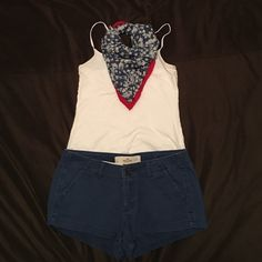 Hollister shorts Blue Hollister shorts! Very comfortable and very short!  Perfect for hot summer days. Hollister Shorts Bermudas