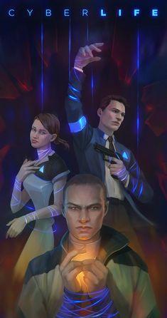 Detroit become human Connor, Kara, Markus  By: eneada