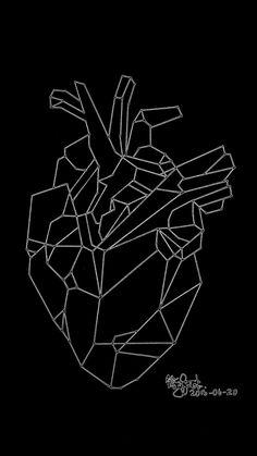 Heart geometric doodle
