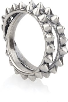 Tom Binns | Punk Pave spiked oxidized silver ring | Christmas came early today.