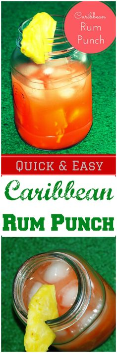 A refreshing drink of rum and fruit juices to transport you to a Caribbean destination and a great addition to your party drink list