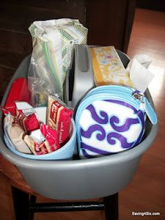Great idea for getting organized in the car!