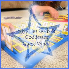 Ancient Egypt Gods and Goddesses Guess Who Cards   Etsy The Guess Who, Gods And Goddesses, Ancient Egypt, Deities, Marketing And Advertising, Card Games, Egyptian, Red And Blue, Study