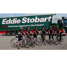 With the Tour of Britain fast approaching, Here we have a group Cumbrian cyclists who cycled from London to Paris back in 2014 in front of a Eddie Stobart Volvo FH.  Can you find the link between this years Tour of Britain and Eddie Stobart? #TBT #ThrowbackThursday #tob2016 #eddiestobart #cycling #sport #stobart #transport #trucks #trucking #classic #bikes #travel #thursday #tourofbritain
