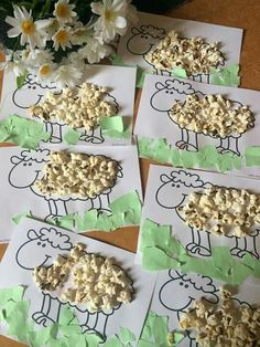 popcorn sheep craft Click Pic for 25 Easy Easter Crafts for Kids to Make Farm Animal Crafts, Sheep Crafts, Farm Crafts, Daycare Crafts, Preschool Crafts, Diy Crafts, Decor Crafts, Farm Activities, Toddler Learning Activities