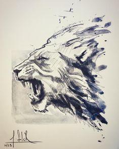 Ideas tattoo animal lion art prints for 2019 Lion Tattoo, Dog Tattoos, Animal Tattoos, Ab Tattoo, Chest Tattoo, Watercolor Lion, Watercolor Sketch, Tattoo Watercolor, Lion Sketch