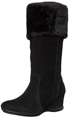 Anne Klein Sport Women's Inda Suede Winter Boot, Black, 8 M US * Click on the image for additional details.