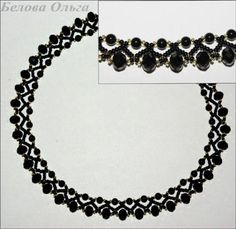 Scheme for black necklace   biser.info - all about beads and beaded works