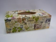 Krabice na papírové kapesníky - Vintage Paris