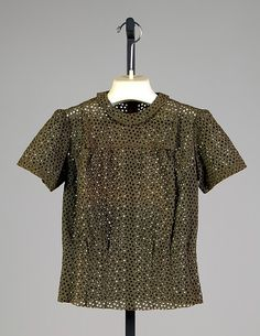 Blouse | House of Schiaparelli | French | 1936 | cotton | Brooklyn Museum Costume Collection at The Metropolitan Museum of Art | Accession Number: 2009.300.3954