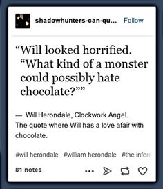And that's why Will Herondale is my favorite kind of a person #TID
