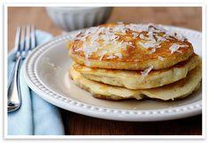 coconut milk pancakes via She Wears Many Hats.