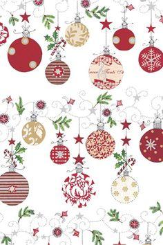 A4 kerstpapier ballen