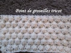 TUTO POINT DE GROSEILLES TRICOT stitch knitting PUNTO TEJIDO DOS AGUJAS - YouTube