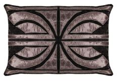 The HOLLYWOOD rectangular cushion cover in crushed velvet, by Sue Wong for EnglishHome.com.