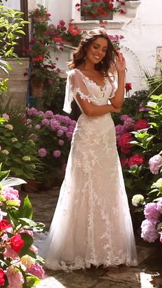 The MISHA gown in Ivory Mocha by Madi Lane Bridal style number Top Wedding Dresses, Cute Wedding Dress, Lace Mermaid Wedding Dress, Wedding Dress Trends, Mermaid Dresses, Bridal Dresses, Wedding Gowns, Wedding Dress Not White, Short Sleeved Wedding Dress