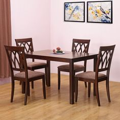 a6a07c77901  home by Nilkamal Peak Four Seater Dining Table Set (Beige) - Best Home