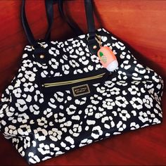 Betsey Johnson Leopard Print Tote Brand new. Used once. Excellent condition. Ships Immediately! NO TRADES Betsey Johnson Bags Totes