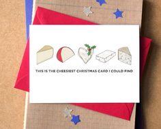 Cheesy Christmas Card funny Christmas card card by BeckaGriffin