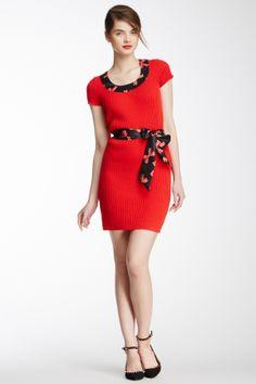 Spring Into Dresses LOVE Moschino Ribbon Bow Trim Knit Dress $165.00