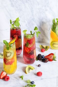 Tropical, Fruit Punch and Wild Berry Mojitos