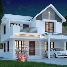 Architect Design House, House Roof Design, House Outside Design, 2 Storey House Design, Bungalow House Design, Facade House, Two Story House Design, Best Modern House Design, Beautiful House Plans