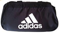 adidas Diablo II Gear Up Small Gym Travel All Sports Gear Duffle Bag (Classic Black/Wt)