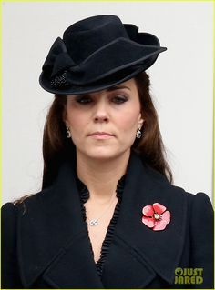 Pregnant Kate Middleton Takes a Moment of Silence to Remember Fallen Servicemen & Women