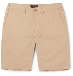 Beams Plus - Ivy Slim-Fit Cotton-Seersucker Shorts - Men - Brown Fashion Advice, Fashion News, Streetwear Shorts, Plus Clothing, Seersucker Shorts, Mr Porter, Cartoon Styles, Short Outfits, Size Model