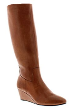 Rose Petals Summer2 Extra Wide Calf Wedge Boot (Luggage) - Casual Boots