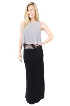 Lexi Maxi Skirt Black