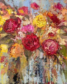 Buy 'Roses II', Oil painting by Ewa Czarniecka on Artfinder. Discover thousands…