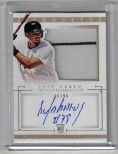 2014 National Treasures Baseball Jose Abreu Auto Rookie Silhouette Card #65/99 #ChicagoWhiteSox