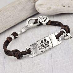 I Love My Dawg Bracelet | Paw Print Jewelry | Dog Lover Bracelet | Island Cowgirl Jewelry