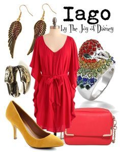 Buy Iago's look:Dress, $59.99 ; Shoes, $79.99 ; Purse, $27.80 ; Bird ring, $24.99 ; Claw ring, $3.99 ...