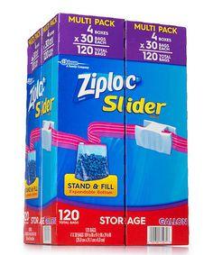Look at this #zulilyfind! Ziploc 120-Ct. Slider Gallon Storage Bags #zulilyfinds