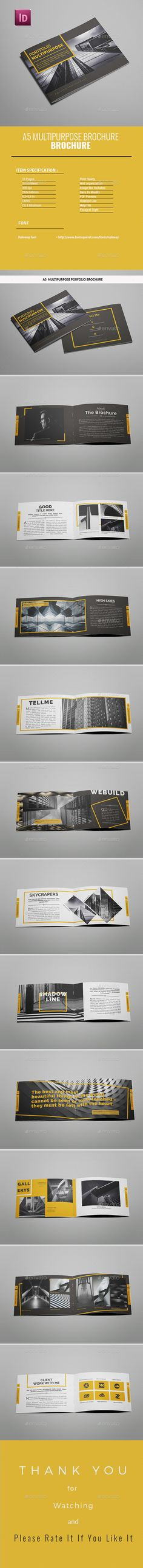 A5 Multipurpose Portfolio Brochure