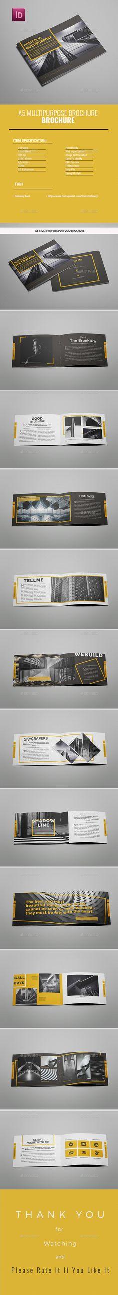 A5 Multipurpose Portfolio Brochure