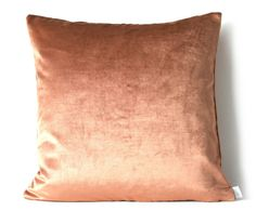 Kandola - Oversized Velvet Cushion - Bronze. Sophisticated and undeniably chic, this oversized bronze velvet cushion is brilliantly on-trend as well as a love-forever piece. #LuxDeco #Pastels #InteriorDesign