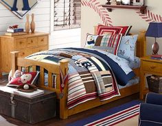 I love the Pottery Barn Kids JV Bedroom on potterybarnkids.com. I don't care for the sheets, maybe a plain set would be better.