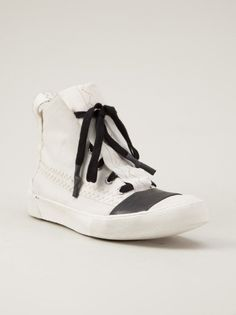 BORIS BIDJAN SABERI - Stitched Parachute Sneaker - BAMBA1 F1538 WHITE - H. Lorenzo