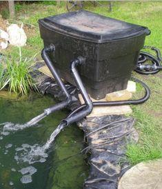 Diy 55 gallon barrel pond filter aquaponics filter for Easy pond filter