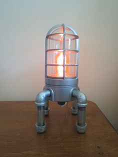 Industrial desk lamp, loft lamp, Steampunk lamp