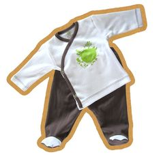 Organic cotton baby body suit organic baby set by rockbabies