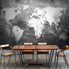 Custom Mural Wallpaper Retro Nostalgia Personalized World Map Wall Paper Living Room TV Bar Cafe Backdrop Wallpaper Home Decor with Free Shipping  have discount 41.0% Off sales