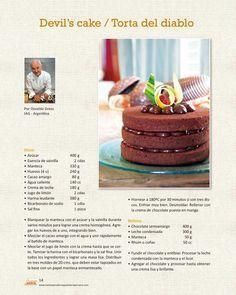 devil's cake By osvaldo gross Pastry Recipes, Cake Recipes, Dessert Recipes, Cupcakes, Cupcake Cakes, Sweet Desserts, Sweet Recipes, Mascarpone Dessert, Cocktail Cake