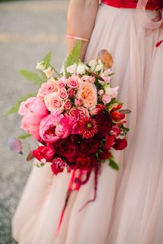 Mirelle Carmichael - California, Hawaii, & Destination Weddings - Coral Ombre Peonies