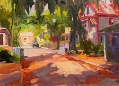 Debbie Moore's House St Augustine, plein air, oil painting by Robin Weiss, painting by artist Robin Weiss