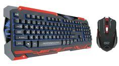 Dragonwar GKM-001 SENCAIC Professional Gaming Keyboard and Mouse Combo Set