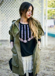 Zara Hooded Parka With Gusse